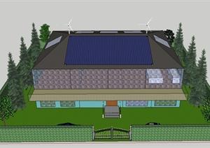 某高效节能住宅建筑设计SU(草图大师)模型