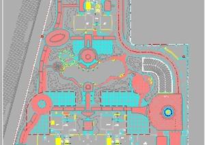 某居住区园建、水电、绿化设计施工图