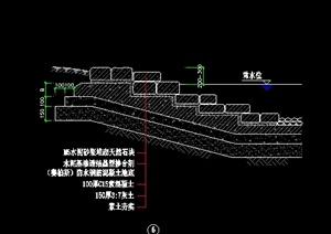 四款水池驳坎、驳岸、水边台阶剖面详图