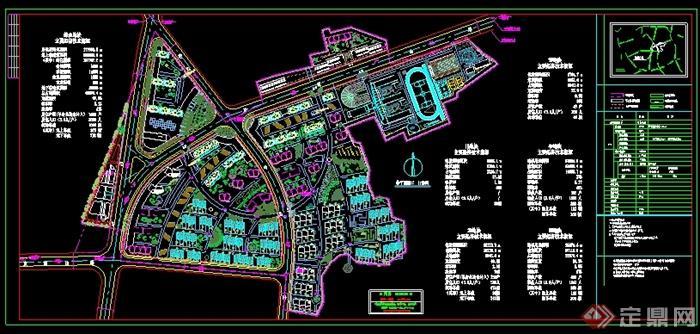 某大型住宅小区景观规划总平面图