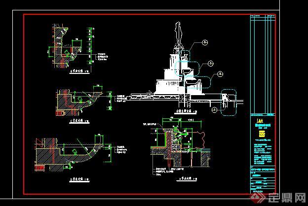 林室外水景跌水喷泉CAD图纸