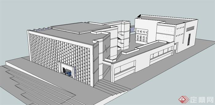 某博物馆建筑设计su白模