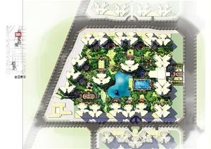 某英式风格住宅小区景观概念设计ppt方案图片