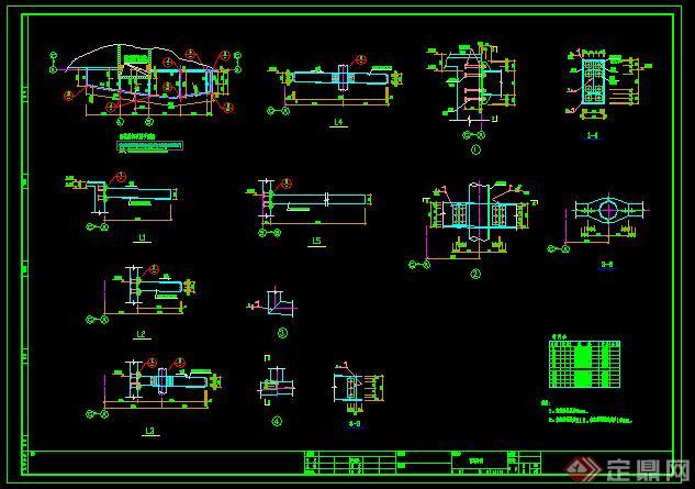某钢化玻璃雨蓬方案图CAD图纸(含施工图)(1)
