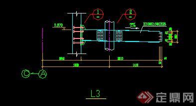 某钢化玻璃雨蓬方案图CAD图纸(含施工图)(4)