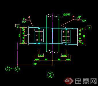 某钢化玻璃雨蓬方案图CAD图纸(含施工图)(3)