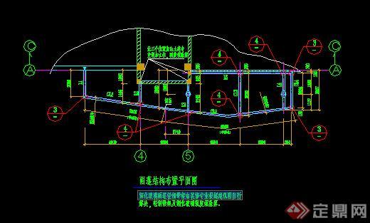 某钢化玻璃雨蓬方案图CAD图纸(含施工图)(2)