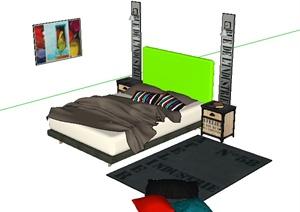 某住宅建筑卧室陈设设计SU(草图大师)模型