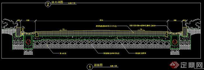 瀝青混凝土道路做法cad施工圖(4)