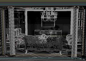 某欧式客厅室内装饰3DMAX模型