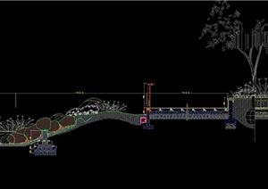 某典型自然驳岸施工大样CAD图