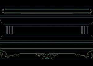 某景观柱底座设计CAD方案图