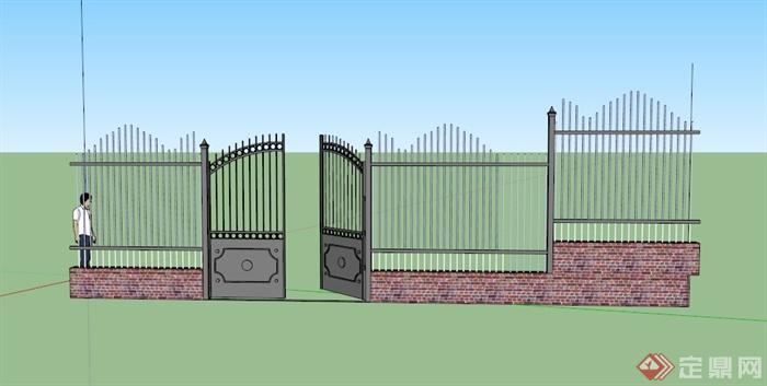 某欧式庭院门设计su模型