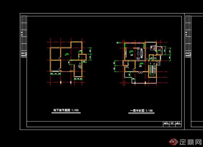 某居住别墅建筑房施工图CAD图纸
