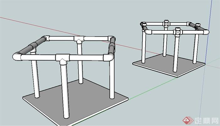 建筑水管道設計su模型(2)