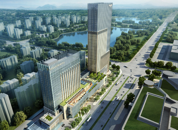 某多个商业建筑楼设计su素材合集