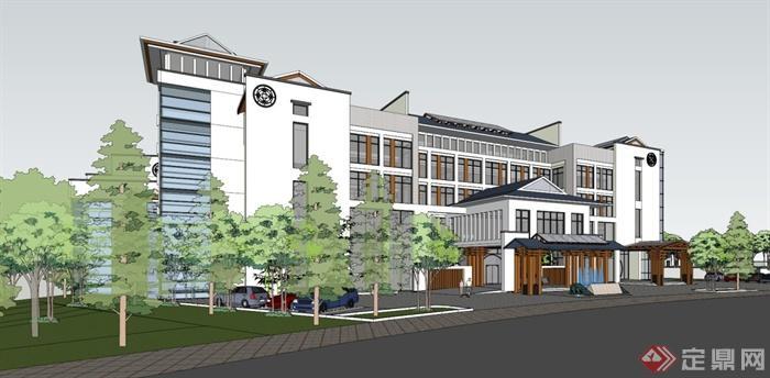 多个欧式,中式,现代酒店建筑设计su模型(6)图片