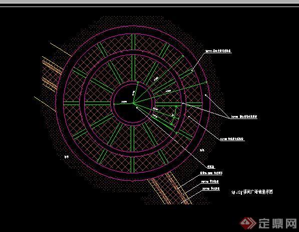 某室外地面图纸铺装扩初图v地面CAD园林1cad为底设图图片