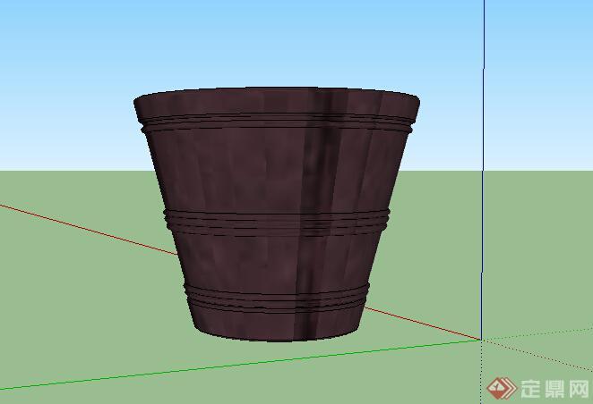 某室外垃圾桶设计su模型参考