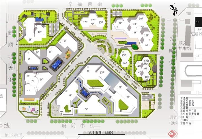 北京某现代商业街区规划设计jpg方案[原创]