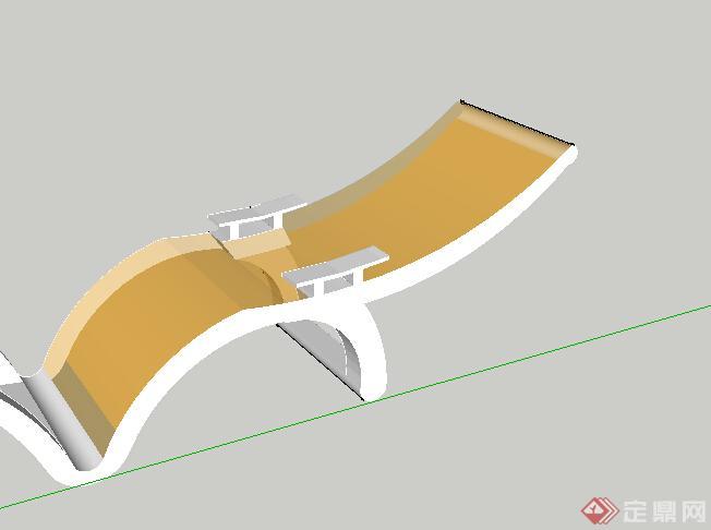 某个室外躺椅设计su模型