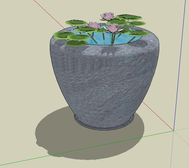 睡莲水缸小品雕塑小品雕塑小品素材
