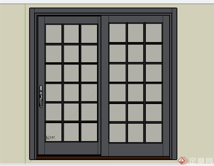 某建筑节点窗户设计su模型素材(1)