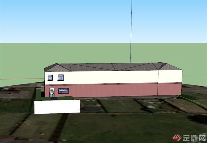 某欧式大型仓库建筑设计su模型
