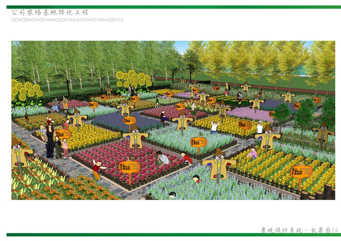 某现代农业农场景观设计效果图