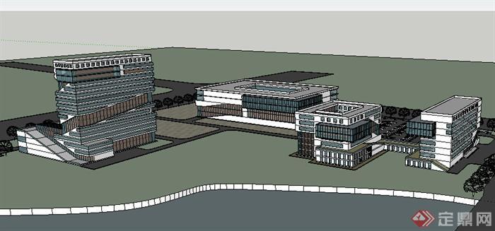 某地中学学校建筑设计su模型