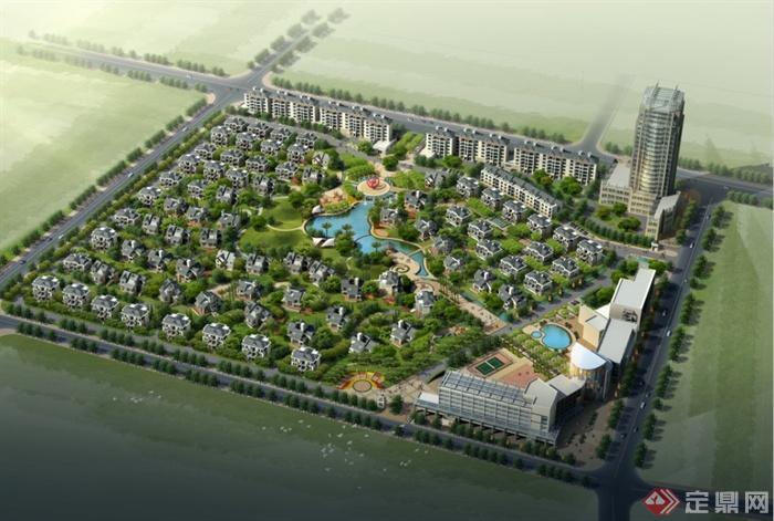 现代某地别墅区住宅建筑设计方案