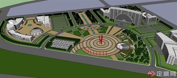 广场设计平面图手绘小品
