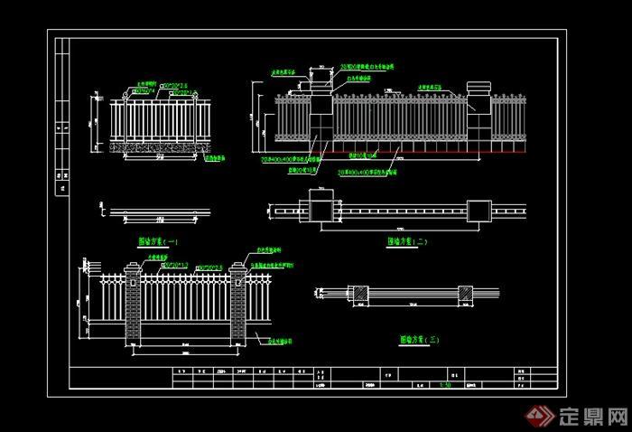 某室外小区图纸施工图v小区CAD布局cad斜交怎么围墙图打印图片