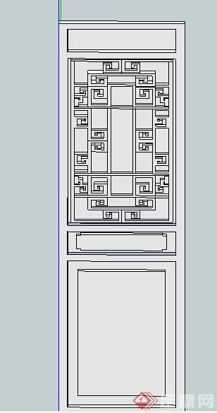 某中式窗花装饰设计su模型
