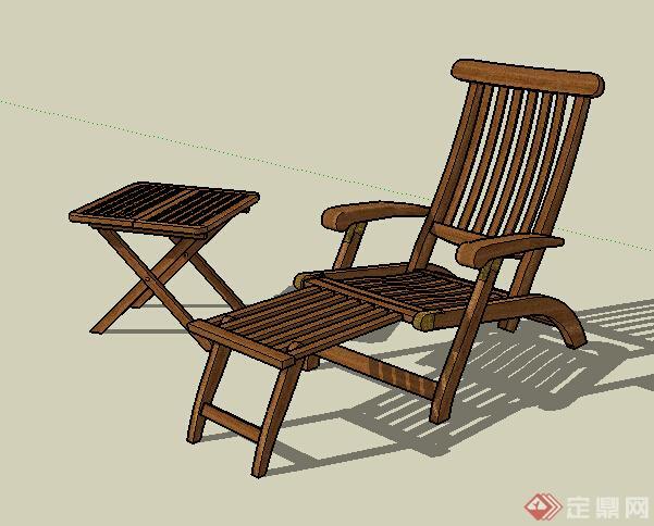 现代中式风格家具座椅设计su模型