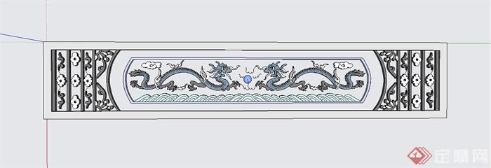某中式建筑窗花设计su模型(1)