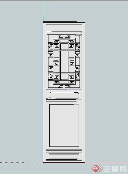 某古典中式窗花设计su模型(1)
