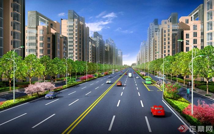 河岸绿化景观_道路绿化景观设计_道路景观绿化图片