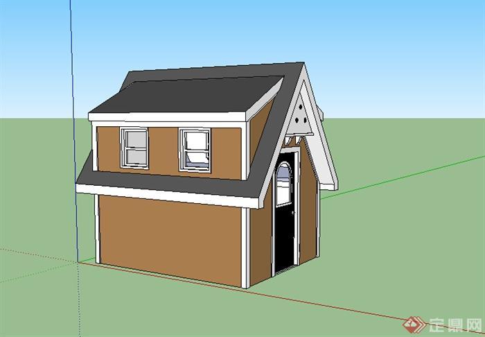 某简欧居住房设计su模型素材