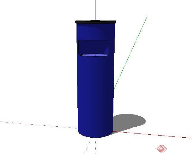 某简单垃圾桶设计su模型