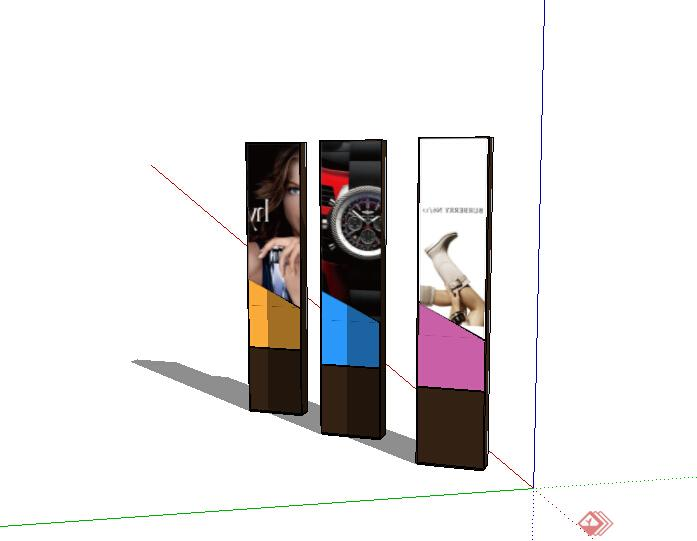 某室外广告牌标志设计su模型