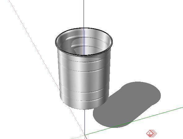 某小水桶设计su模型参考