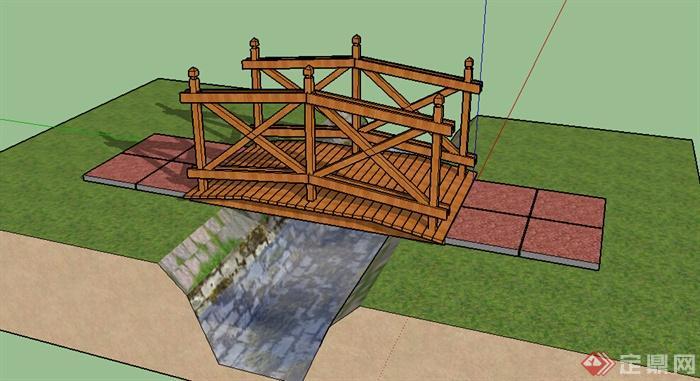 简单桥的搭法模型结构图