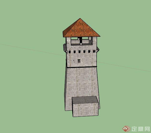 某景观瞭望塔建筑设计su模型