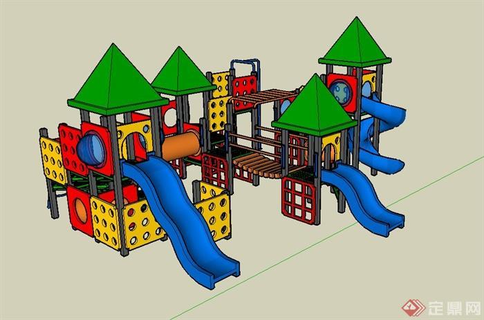 儿童游乐设施设计su模型素材