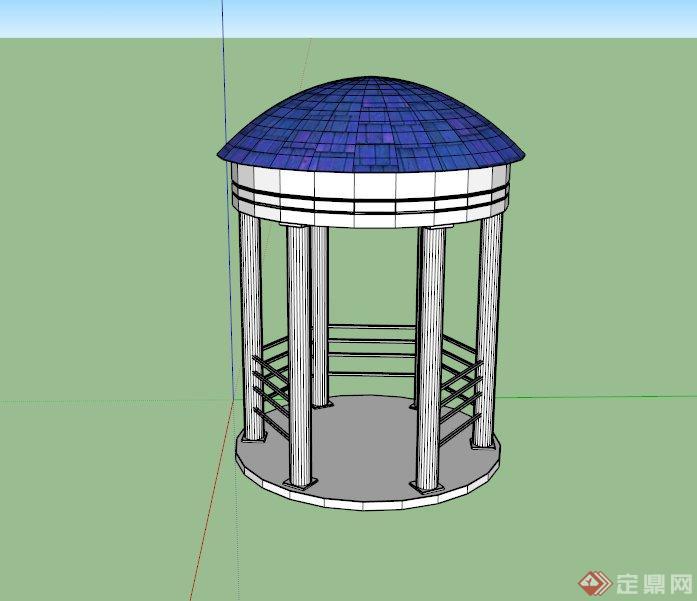 某欧式六角景观亭设计su模型