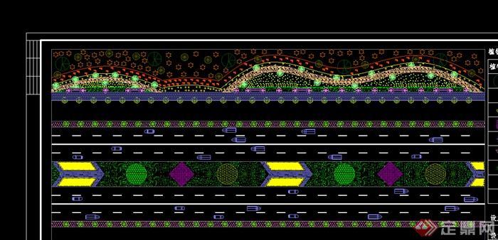 某城市道路绿化景观设计CAD图纸