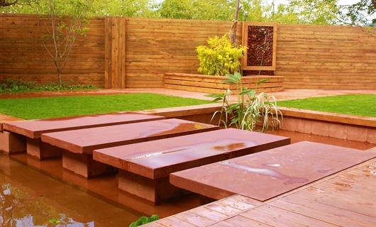 昆明野鸭湖豪宅花园景观设计竣工实景