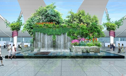贵阳机场T2航站楼室内景观设计方案