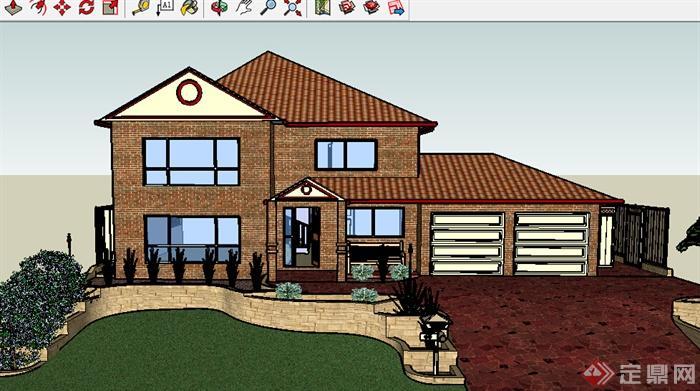 该压缩包里面包含某美式小别墅设计SU模型格式的文件,模型设计的比较认真,颜色搭配的也比较简洁,可以供广大建筑设计爱好者使用,也可用作同类项目参考使用。